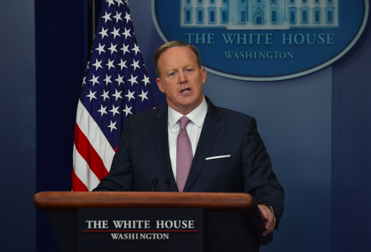 Sean Spicer has made a series of gaffes during his time as press secretary (Rex)