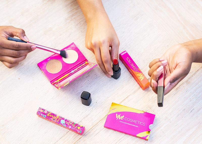 The cruelty-free, vegan products from Vive Cosmetics were created by Latinas for Latinx people. (Photo: Yarcenia Garcia)