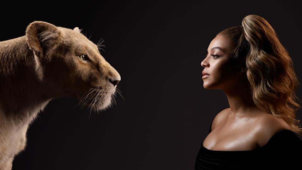 Beyoncé with character Nala. Photo: Disney