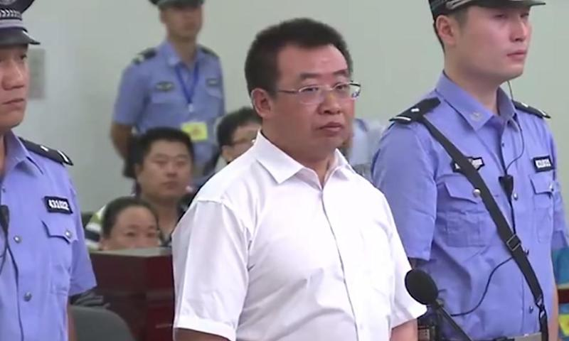 Jiang Tianyong in court in Changsha in August.