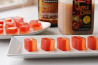 """<p>Two quintessential fall flavors — apple cider and buttered rum — come together in these two-toned jello shots.</p><p>Get the recipe from <a href=""""http://www.thatssomichelle.com/2012/12/apple-cider-and-buttered-rum-jello-shots.html"""" rel=""""nofollow noopener"""" target=""""_blank"""" data-ylk=""""slk:That's So Michelle"""" class=""""link rapid-noclick-resp"""">That's So Michelle</a>.</p>"""