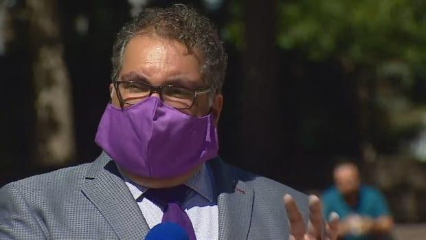 Mayor Naheed Nenshi says the City of Calgary will take what actions it can to protect citizens if the province's new restrictions to combat COVID-19 are insufficient. (Mike Symington/CBC - image credit)