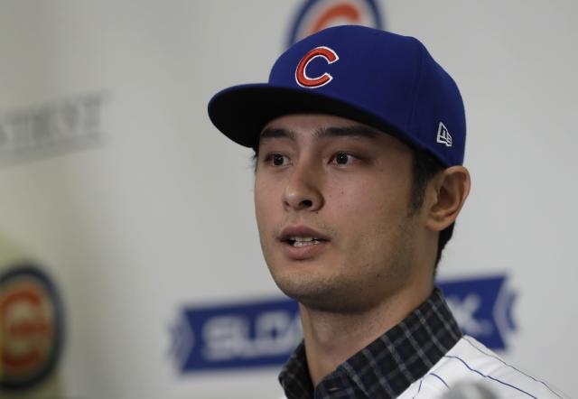 After months of waiting, Yu Darvish finally signed with the Cubs. (AP Photo/Carlos Osorio)
