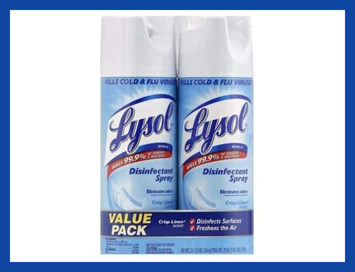 Lysol Disinfectant Spray, Crisp Linen, 12.5-ounce (two-pack). (Photo: Amazon)