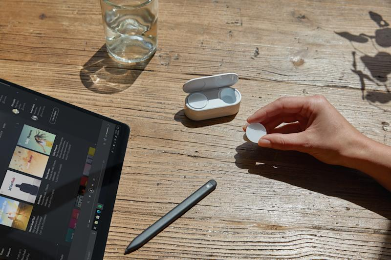 Microsoft Surface earbuds. PHOTO: Microsoft