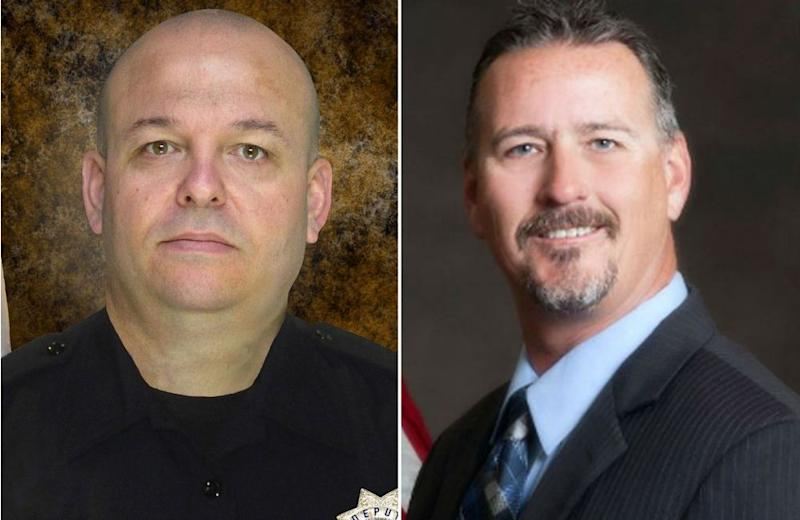 Sacramento County sheriff's deputy Danny Oliver (left) and Placer County sheriff's detective Mike Davis Jr.