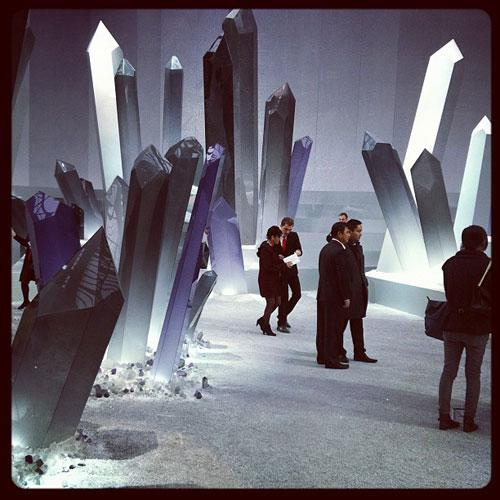 Chanel's Futuristic Autumn Winter 2012 Show crystal superman.jpg