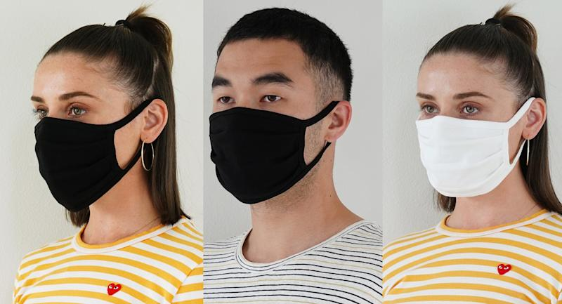 These breathable face coverings come in black or white to match any outfit. (Nordstrom Rack)