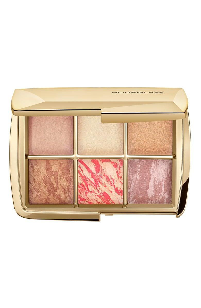 <p>Get them glowing with this covetable <span>Hourglass Sculpture Ambient Lighting Edit Palette</span> ($80).</p>