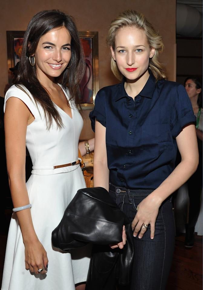 NEW YORK, NY - APRIL 19:  Actresses Camilla Belle and Leelee Sobieski attend the 2012 Tribeca Film Festival Jury lunch at the Tribeca Grill Loft on April 19, 2012 in New York City.  (Photo by Mike Coppola/Getty Images for Tribeca Film Festival)