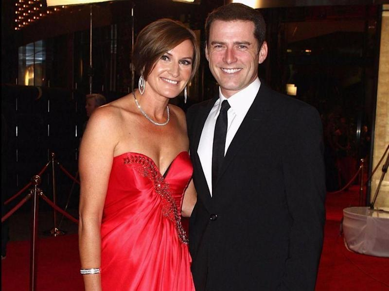Cassie, seen here at the 2011 Logies with Karl, insists she's looking forward in life. Source: Getty