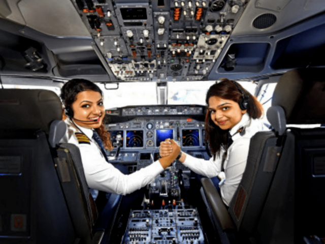 India currently has the highest number of female pilots in the world.