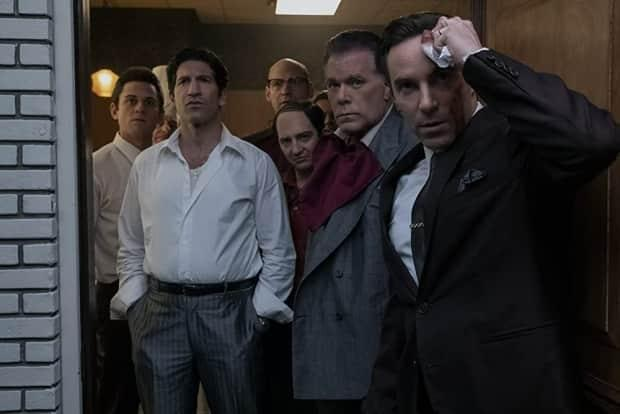 The cast of The Sopranos prequel The Many Saints of Newark appear in this still. Warner Bros. and HBO released the much-anticipated trailer to the film on Tuesday.  (Warner Bros.  - image credit)