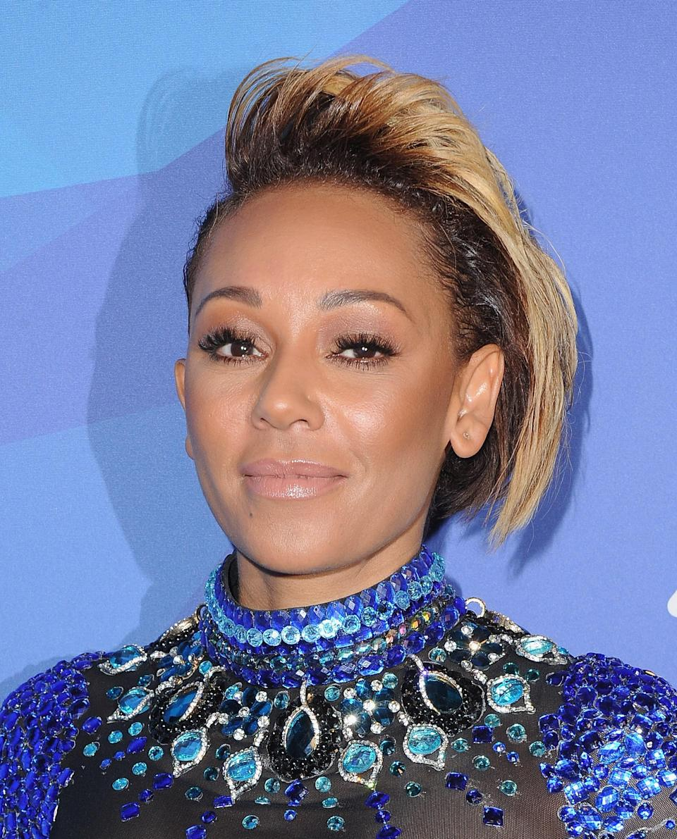 Mel B went the asymmetrical route with her short cut, keeping one side long and shaving the other. Gorgeous.