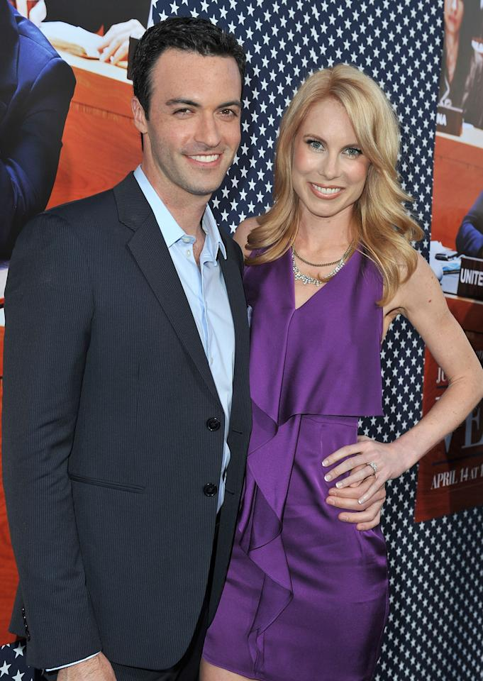 HOLLYWOOD, CA - APRIL 09:  Actor Reid Scott and Elspeth Keller attend the Los Angeles premiere for the second season of HBO's series 'Veep' at Paramount Studios on April 9, 2013 in Hollywood, California.  (Photo by Angela Weiss/Getty Images)