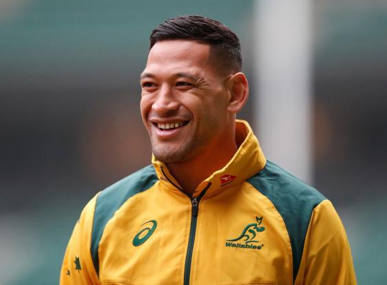 Rugby Australia intends to sack Folau after he refused to respond (Reuters)