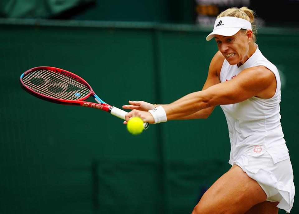 Angelique Kerber of Germany plays a backhand (Getty)