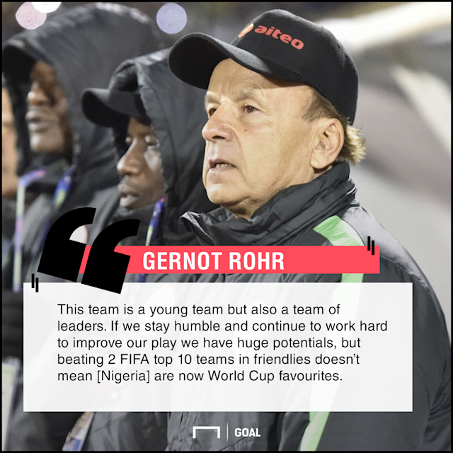 The Super Eagles gaffer has charged his team to remain humble despite defeating Argetina and Poland in international friendlies