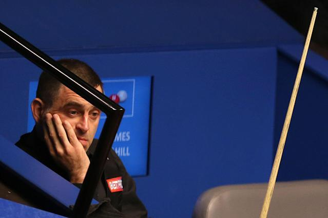 Ronnie O'Sullivan appears dejected during his defeat to James Cahill.