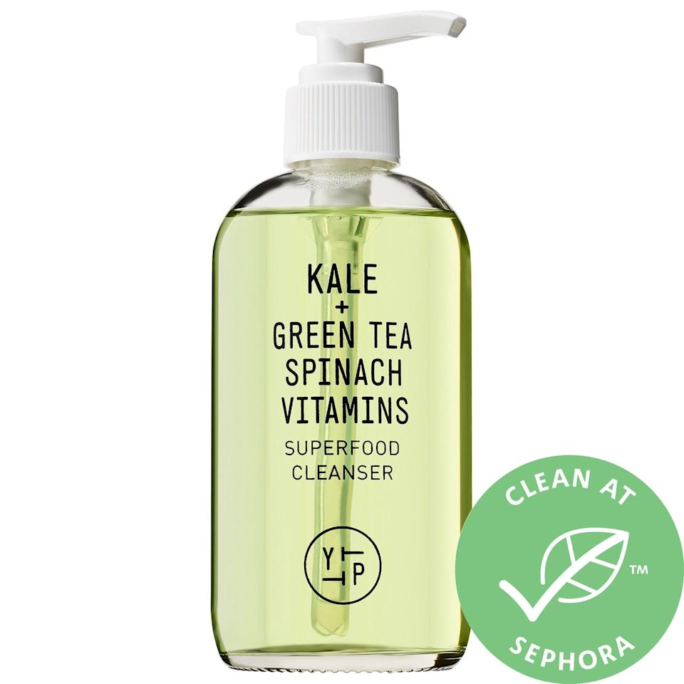 <p>The antioxidants coming from the cold-pressed kale, spinach, and green tea in this <del>juice</del> <span>Youth to the People Superfood Antioxidant Cleanser</span> ($36) are refreshing on the surface while also nurturing deeper within. The face wash also helps maintain a healthy pH balance and is sulfate- and alcohol-free so skin isn't left overly dried out either.</p>