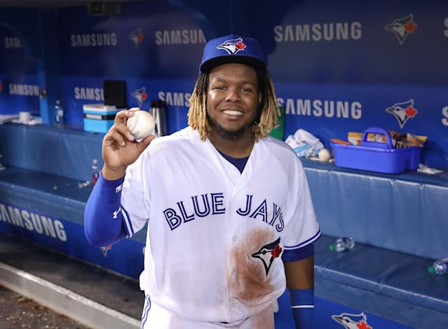 While Cole Tucker was preparing to play in Los Angeles, Vladimir Guerrero Jr. made his MLB debut in Toronto. (Getty Images)