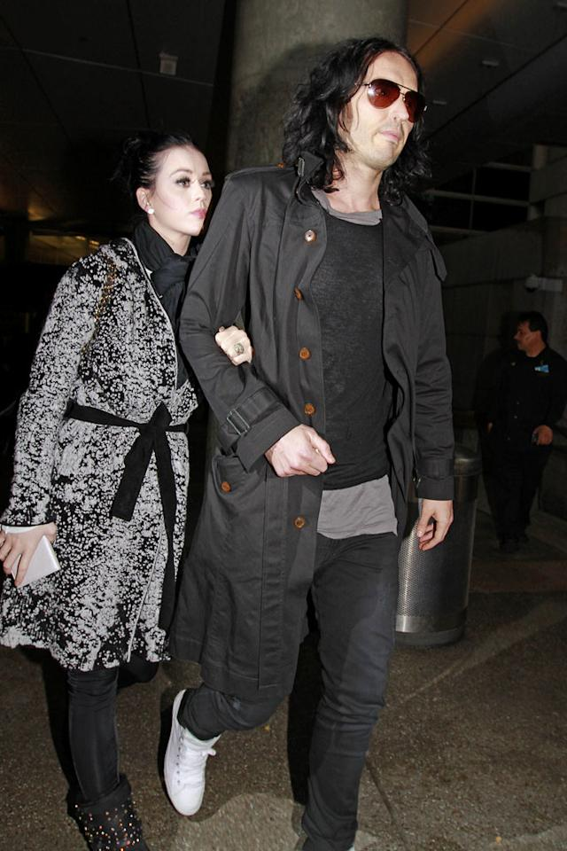 "Katy Perry will soon file for divorce from Russell Brand, reports MSN, which notes the ""splitting up... [comes] after just one year of marriage."" The site points out the divorce buzz began with a TMZ report that curiously ""has since been taken down."" For why the marriage didn't work and how they're handling it, see what both Perry and Brand say on <a target=""_blank"" href=""http://www.gossipcop.com/katy-perry-russell-brand-divorcing-divorce-rumor-november-2011/"">Gossip Cop</a>. (03/23/11)"