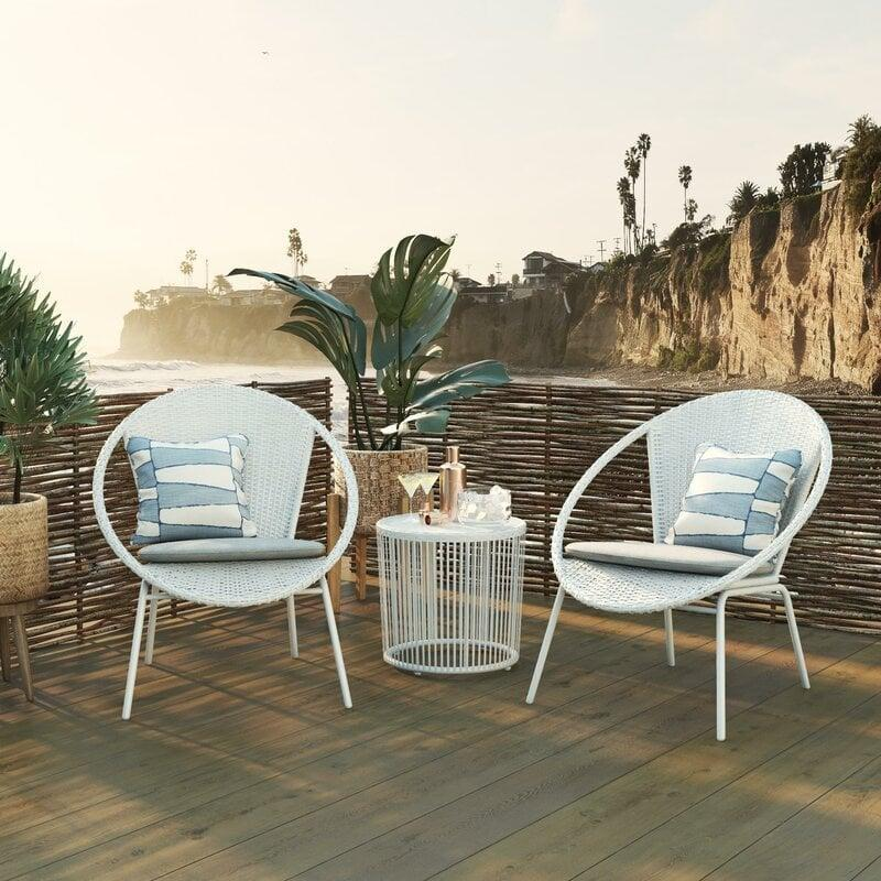 <p>Take over a little corner space with this <span>Sia Bistro 3 Piece Seating Group</span> ($380, originally $780).</p>