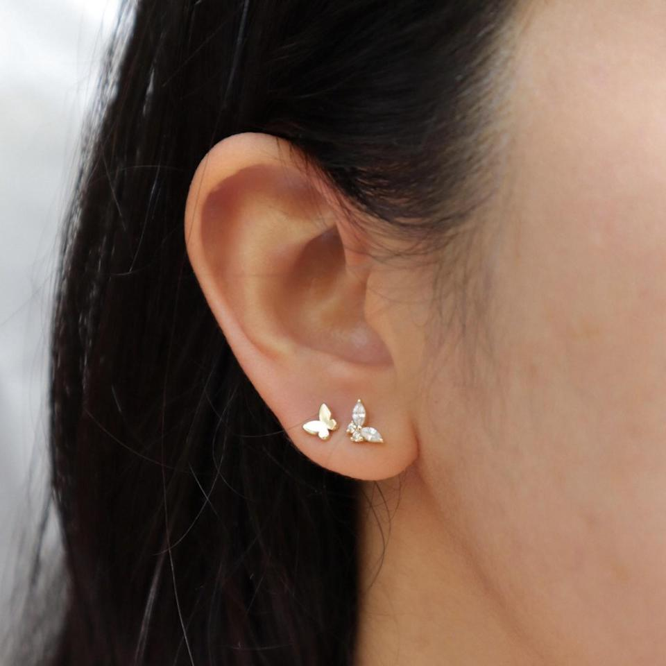 <p>This <span>Dainty Butterfly Earring Set</span> ($34) is the cutest!</p>