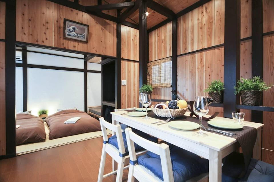 "<h2><a href=""https://www.airbnb.com/s/Tokyo--Japan/all"" rel=""nofollow noopener"" target=""_blank"" data-ylk=""slk:Tokyo, Japan"" class=""link rapid-noclick-resp"">Tokyo, Japan</a></h2>103% YoY increase in booking<br><br><strong><a href=""https://airbnb.pvxt.net/jgy75"" rel=""nofollow noopener"" target=""_blank"" data-ylk=""slk:2 Bed Room + 2 Toilets + Free Pocket Wi-Fi"" class=""link rapid-noclick-resp"">2 Bed Room + 2 Toilets + Free Pocket Wi-Fi</a></strong><br>""Located in Tateishi, a quaint neighborhood built around a local station in Tokyo. Many bars that were built right after World War II still exist near the station. You can feel what Tokyo was like back in the 1940s. Good access to major sightseeing spots (15 minutes to 50 minutes by local train)""<br><br><span class=""copyright"">Photo: Courtesy of Airbnb.</span>"