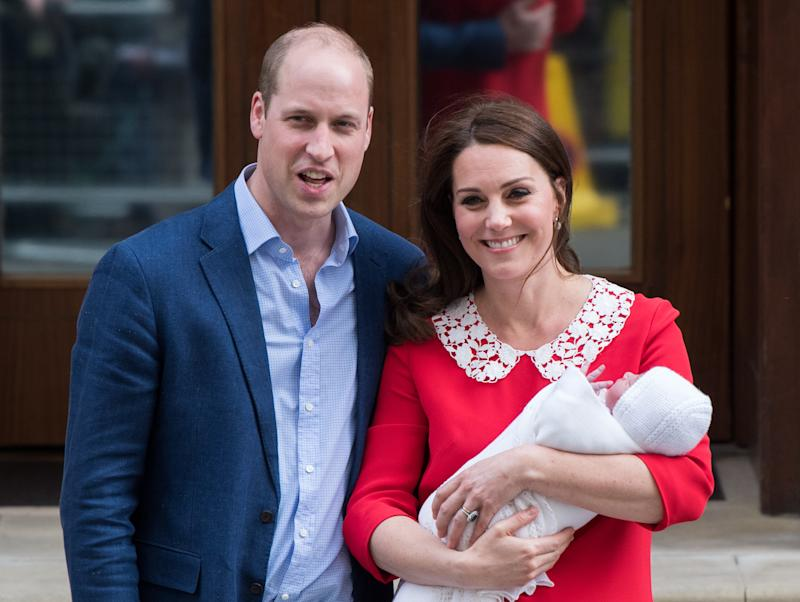 The Duke and Duchess of Cambridge with their newborn son. (Samir Hussein/WireImage via Getty Images)