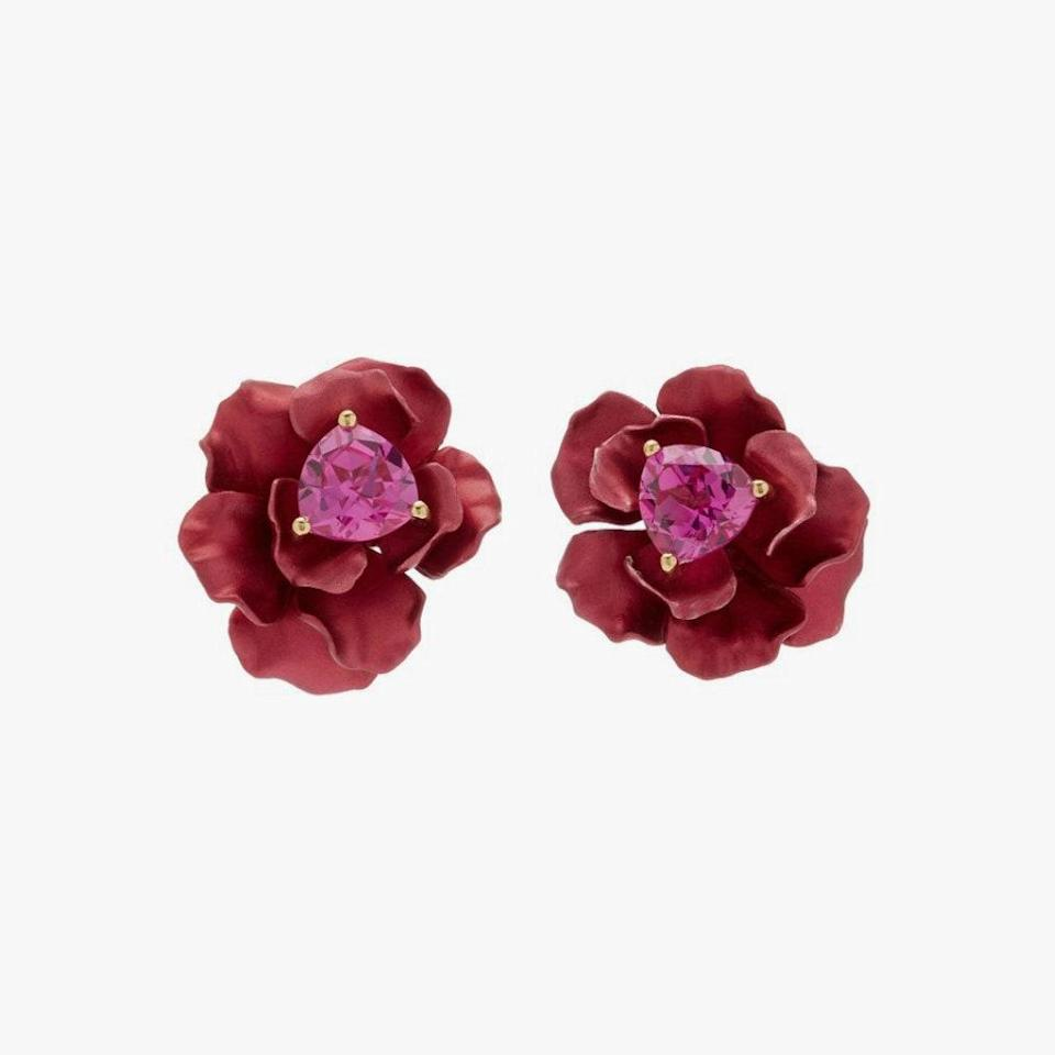 "$1410, MODA OPERANDI. <a href=""https://www.modaoperandi.com/women/p/anabela-chan/ruby-bloom-earrings/448349"" rel=""nofollow noopener"" target=""_blank"" data-ylk=""slk:Get it now!"" class=""link rapid-noclick-resp"">Get it now!</a>"