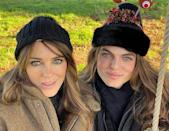 """<p>Model Damian Hurley shared a festive photo of himself and mum Elizabeth Hurley looking seriously identical. Both wearing matching knitted bobble hats and sporting the actress' long brunette hair and striking blue eyes, the mother and son looked uncanny.</p><p><a href=""""https://www.instagram.com/p/B6gBDRalivM/?utm_source=ig_embed&utm_campaign=loading"""" rel=""""nofollow noopener"""" target=""""_blank"""" data-ylk=""""slk:See the original post on Instagram"""" class=""""link rapid-noclick-resp"""">See the original post on Instagram</a></p>"""