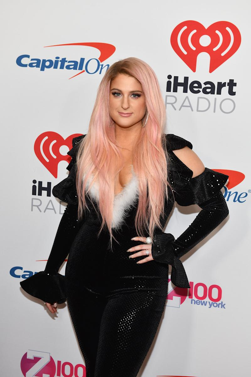 60857873e1c Inside Newlywed Meghan Trainor s Glamorous Wedding Dress