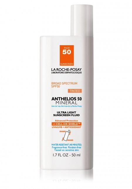 """<p><b>Active Ingredients:</b> 6% Titanium Dioxide and 5% Zinc Oxide <br />This powerful sunscreen fluid is incredibly lightweight and completely invisible when applied. You won't have that heavy feeling on your skin that comes with lathering on sunscreen, instead you will only have softer skin. It's hard to believe something so light could be so powerful, but it provides broad spectrum protection that holds up that makes it a favorite with beauty editors.<br /><br /><a rel=""""nofollow"""" href=""""http://www.laroche-posay.us/anthelios-50-mineral-883140000907.html"""">La Roche-Posay Anthelios Mineral SPF 50</a> ($33.50)</p>"""