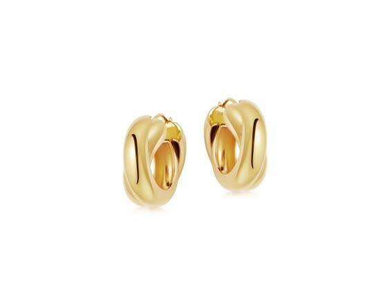 Gold jewellery is having a moment, try this chunky hoop style for size (Missoma)