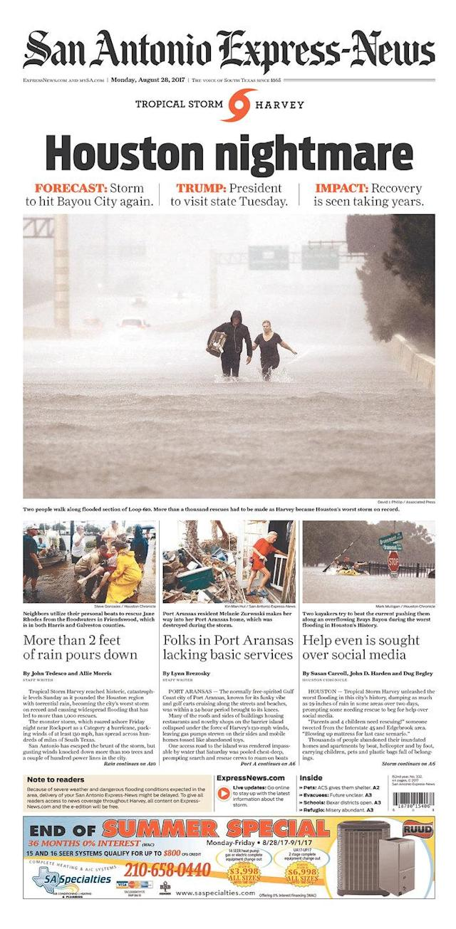 <p>San Antonio Express-News<br> Published in San Antonio, Texas USA. (newseum.org) </p>