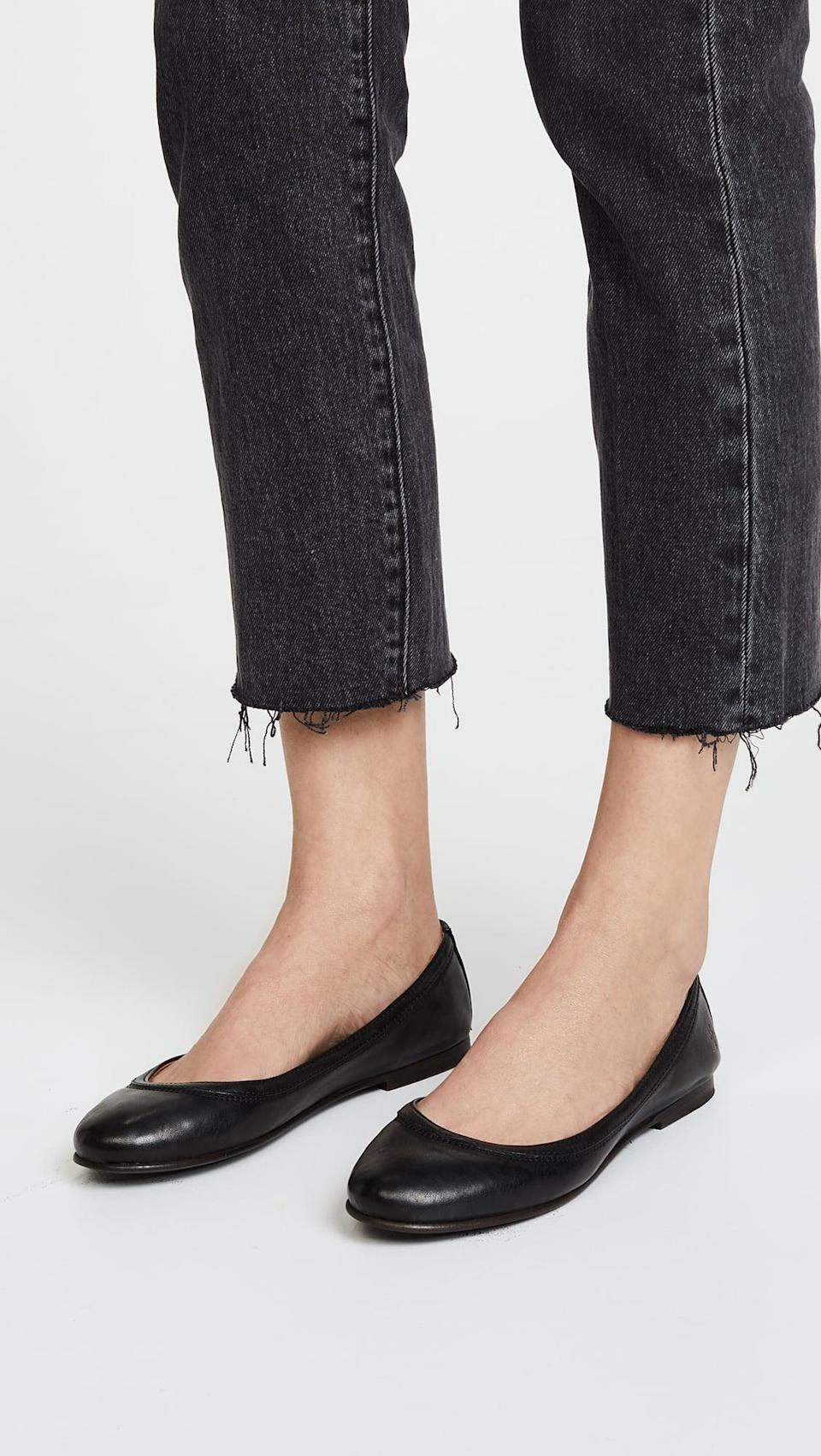 <p>You can't go wrong owning these classic <span>Frye Carson Ballet Flats</span> ($158). They feature a rubber sole to keep your feet cozy.</p>
