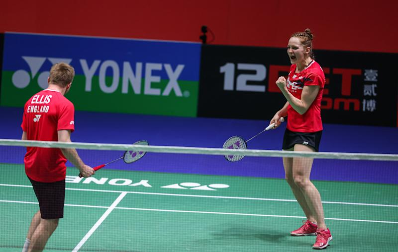 Marcus Ellis and Lauren Smith were in jubilant spirits after their scintillating pair of first round victories