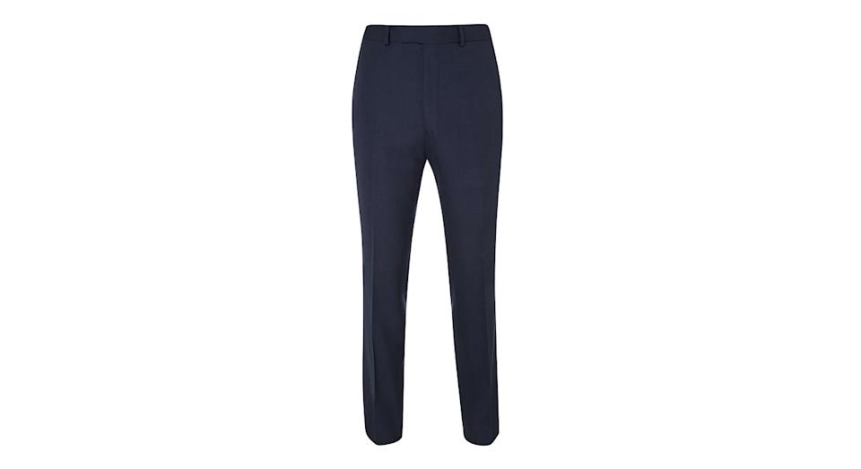 Chester by Chester Barrie Hopsack Wool Tailored Suit Trousers