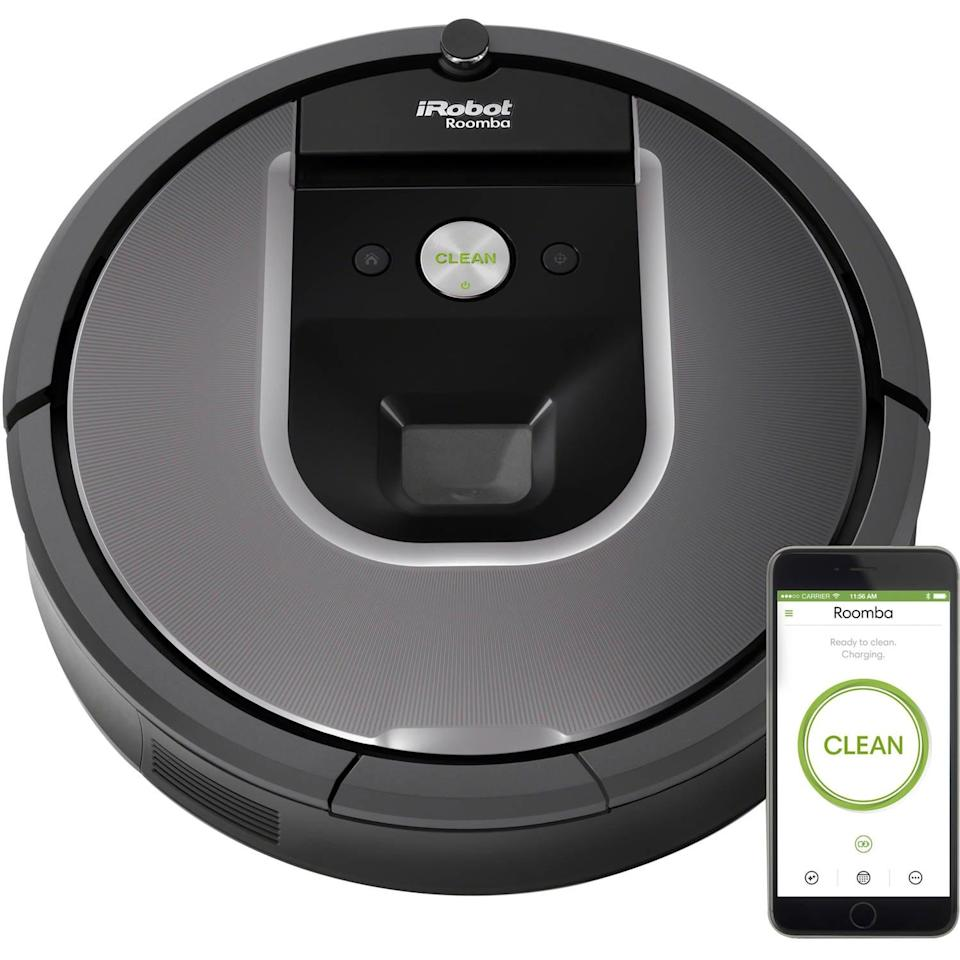 """<p>The <a href=""""https://www.popsugar.com/buy/iRobot-Roomba-405951?p_name=iRobot%20Roomba&retailer=walmart.com&pid=405951&price=395&evar1=geek%3Aus&evar9=36026397&evar98=https%3A%2F%2Fwww.popsugar.com%2Ftech%2Fphoto-gallery%2F36026397%2Fimage%2F45754584%2FiRobot-Roomba&list1=tech%2Cshopping%2Cgifts%2Cgadgets%2Cgift%20guide%2Cdigital%20life%2Cwalmart%2Ctech%20accessories%2Ctechnology%20%26%20gadgets%2Ctech%20gifts%2Cgifts%20for%20men&prop13=mobile&pdata=1"""" class=""""link rapid-noclick-resp"""" rel=""""nofollow noopener"""" target=""""_blank"""" data-ylk=""""slk:iRobot Roomba"""">iRobot Roomba</a> ($395) cleans your house without you having to move, and isn't that brilliant? Sync it up with the app on your phone to schedule cleanings whenever you want, and track its progress as it moves about your house.</p>"""