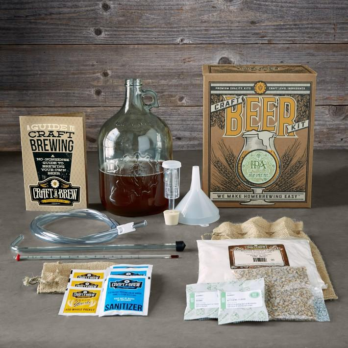 "<p><strong>Williams Sonoma</strong></p><p>williams-sonoma.com</p><p><strong>$49.95</strong></p><p><a href=""https://go.redirectingat.com?id=74968X1596630&url=https%3A%2F%2Fwww.williams-sonoma.com%2Fproducts%2Fwilliams-sonoma-ipa-craft-beer-kit&sref=http%3A%2F%2Fwww.womansday.com%2Flife%2Fg964%2Fgifts-for-men%2F"" target=""_blank"">Shop Now</a></p><p>If the man in your likes to enjoy his beer while chronicling the drink's journey from hops to bottle, then he'll love becoming a brewmaster at home. Plus, it's a great way to bring friends and family together over a pint of his homemade IPA.</p>"