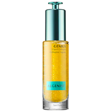 """Peptides, collagen amino acids, microalgae oil beads, and niacinamide help form this treatment, geared to smooth and add life to dull, lackluster skin. <br> <br> <strong>Algenist</strong> GENIUS Liquid Collagen, $, available at <a href=""""https://go.skimresources.com/?id=30283X879131&url=https%3A%2F%2Fwww.sephora.com%2Fproduct%2Fgenius-liquid-collagen-P421277"""" rel=""""nofollow noopener"""" target=""""_blank"""" data-ylk=""""slk:Sephora"""" class=""""link rapid-noclick-resp"""">Sephora</a>"""