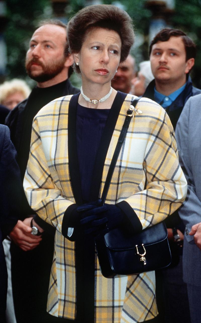 Princess Anne on a visit to Zagorsk, Russia, May 1990.