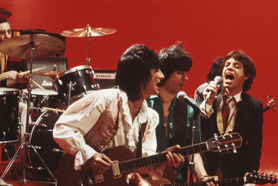 The Rolling Stones in New York City, May 1978. Left to right: Ronnie Wood, Keith Richards and Mick Jagger. (Photo by Michael Putland/Getty Images)