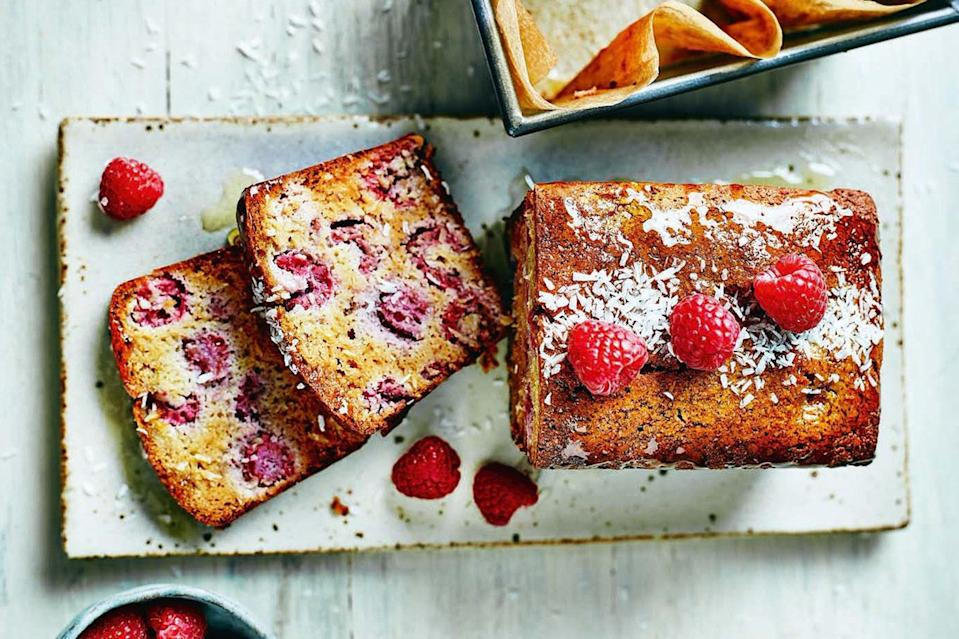 "Sure, it says ""breakfast loaf,"" but this berry-studded wonder also makes a lovely (and gluten-free!) 4th of July dessert. Slice it, toast it—better yet, grill it—and serve it under a big spoonful of ice cream. <a href=""https://www.epicurious.com/recipes/food/views/raspberry-and-coconut-breakfast-loaf?mbid=synd_yahoo_rss"" rel=""nofollow noopener"" target=""_blank"" data-ylk=""slk:See recipe."" class=""link rapid-noclick-resp"">See recipe.</a>"
