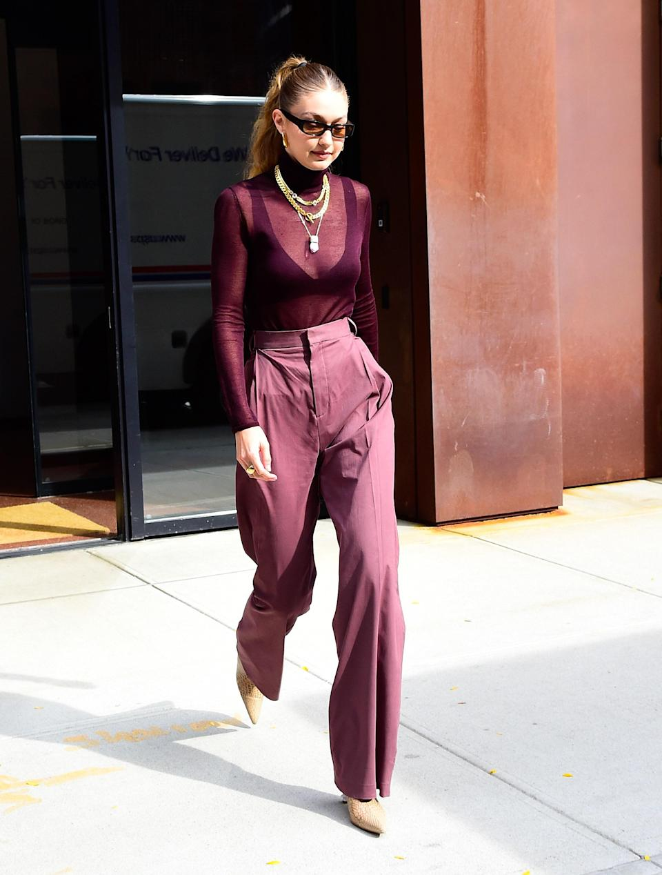 Burgundy has never looked so good.
