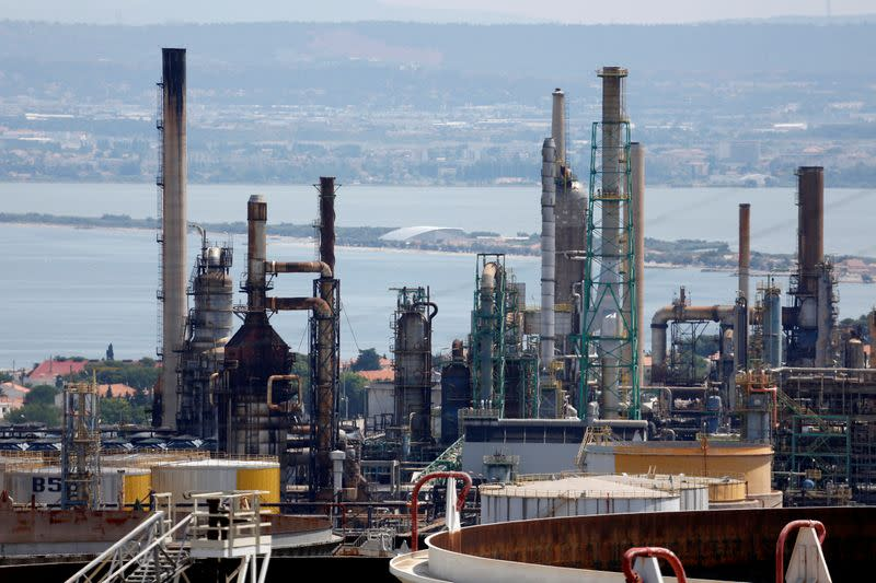 FILE PHOTO: General view of Total's oil refinery at La Mede near Marseille, southern France