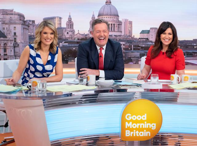 Charlotte Hawkins is hosting 'GMB' with Piers Morgan while Susanna Reid is in self-isolation. (ITV)