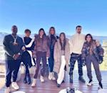 "<p>The fashion and beauty mogul shared a photograph of herself, a handful of her famous siblings, Scott Disick, Kris Jenner and Corey Gamble on Christmas 'Eve Eve' (aka December 23).</p><p>'Tahaoe w the fam [sic],' she captioned the sweet photo which sees the famous reality star clan bundle up in layers against the cold climes. </p><p><a href=""https://www.instagram.com/p/CJJVNVRgK4g/?utm_source=ig_web_copy_link"" rel=""nofollow noopener"" target=""_blank"" data-ylk=""slk:See the original post on Instagram"" class=""link rapid-noclick-resp"">See the original post on Instagram</a></p>"