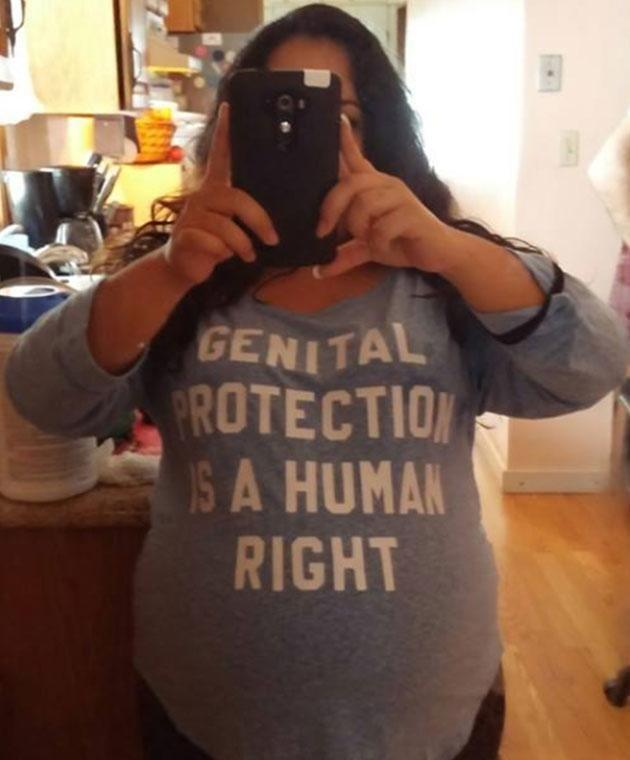 The mum-of-six is now an outspoken campaigner for children's rights to their own bodies. Photo: Facebook
